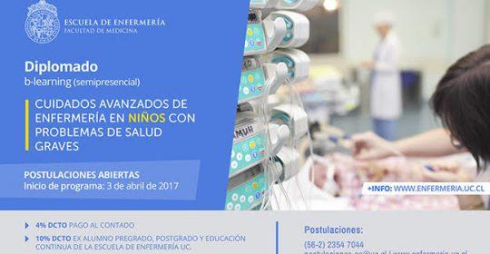 Diplomado en Cuidados Avanzados de Enfermería en Niños con Problemas de Salud Graves – Semi presencial