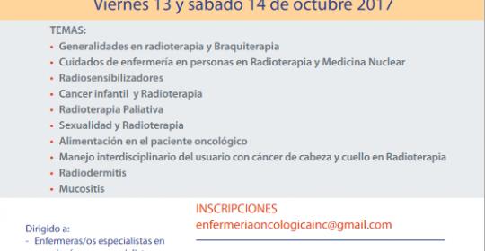 2da. Versión CURSO DE ENFERMERÍA ONCOLÓGICA EN RADIOTERAPIA