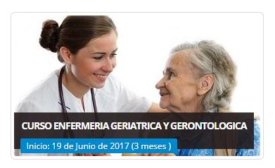 CURSO ENFERMERIA GERIATRICA Y GERONTOLOGICA ONLINE