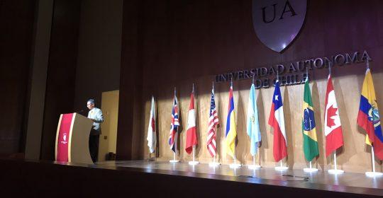 Imágenes de la inauguración del Primer Global Human Caring Congress en Chile. Nov 2017