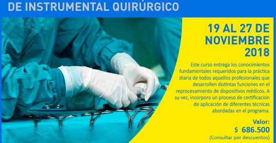 Curso de Reprocesamiento y esterilización de instrumental quirúrgico