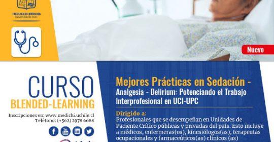 1ª versión del Curso Blended- Learning Mejores Prácticas en Sedación –Analgesia– Delirium: Potenciando el trabajo interprofesional en UCI-UPC
