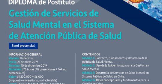 Diploma en Gestión de Servicios de Salud Mental en el Sistema de Atención Pública en Salud 2019